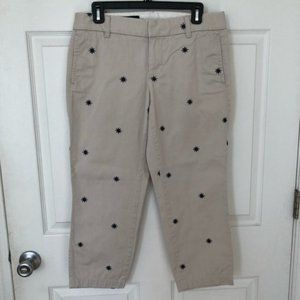 J. Crew Scout Chinos Capris Size 4